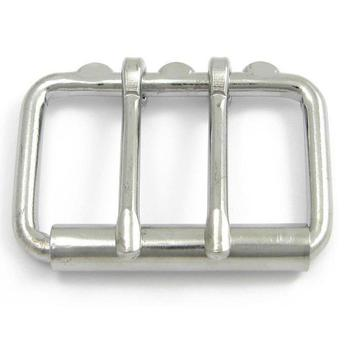 Double Prong Roller Buckle Chrome Plated Steel