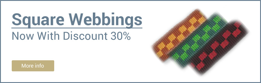 Square Webbings with Discount